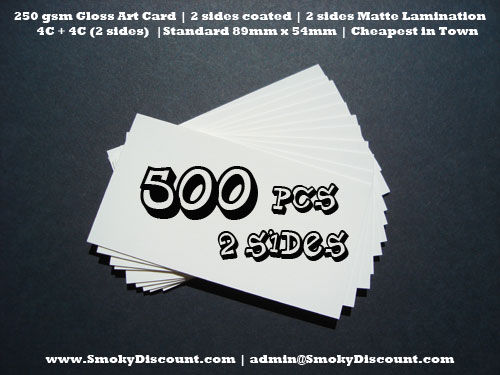 Business card printing 500 pcs 2 sided smoky discount malaysia reheart Images